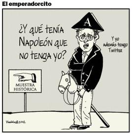 Hubo exposici´øn de Napoleón en Bogotá.