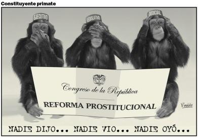 Los micos hicieron de las suyas en el Congreso.