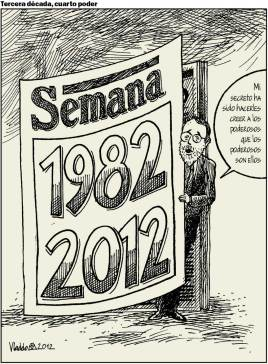 La revista Semana cumplió 30 años, de la mano de su fundador, Felipe López Caballero.