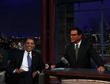 """En el puesto de David Letterman. """"Me gustaría parecerme a letterman, pero en la billetera"""", dice."""