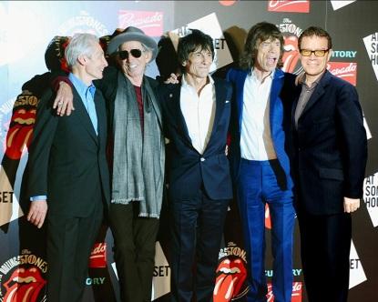 Como uno más entre los Rolling Stones. Además de su música, vladdo ha aplaudido desde sus años de colegio la actitud provocadora de la banda británica.