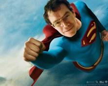 Sueños de superhéroe. Supermán fue la primera inspiración visual del caricaturista.